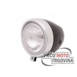 Front light oldtimer 130mm black