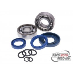 Crankshaft bearing set SKF 20mm w/ o-rings for Vespa PK XL
