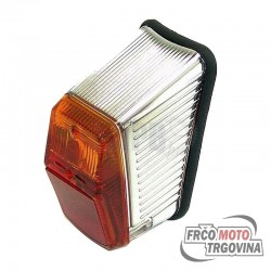 Rear light ULO ELEC- red / krom - Kreidler, Zundapp, Tomos