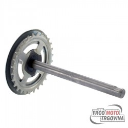 Pedal Shaft - Piaggio Ciao 28 Tooth - RMS