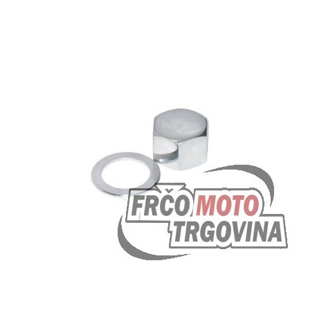 Tomos E90 nut chrome plated with washer for front fork