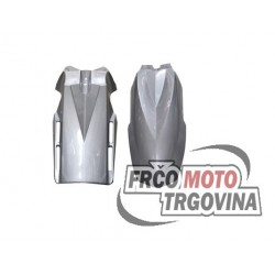 Front Fender Gray  Polisport Supermotard