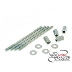 Cylinder bolt set incl nuts M7x120mm - 4 pcs each for Derbi EBE , EBS