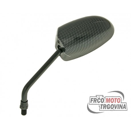 mirror F1 Round Style left side M10 carbon look