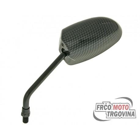 Ogledalo F1 Round Style Carbon Levi - M10