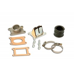 Lamel ventil set s sesalnim kolenom d. 28 / 30 / 32 mm AM6 kit R4Racing