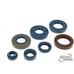 engine oil seal set for Minarelli AM, Generic, KSR-Moto, Keeway, Motobi, Ride, CPI, 1E40MA, 1E40MB