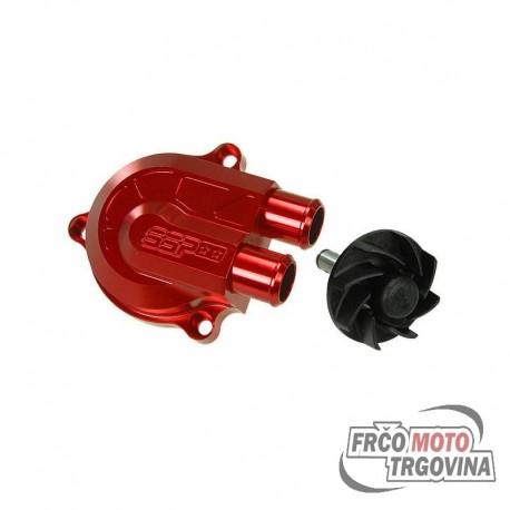 Stage6 Water Pump Racing +40% Minarelli LC (Yamaha Aerox) anodized red