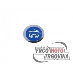 Sticker Tomos Logo Blue/Chrome 40MM
