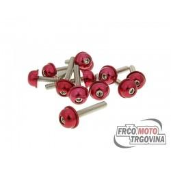 Vijaki – imbus - eloksirani aluminij  z rdečo glavo - 12 kom - M5x30