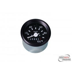 Speedometer up to 100km/h round shape 60mm w/ direction indicator light