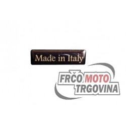 Emblem Made in Italy 35mm x 10 mm