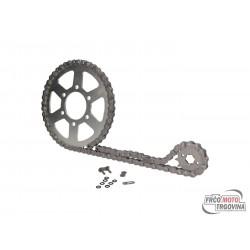 Chain kit AFAM 14/45 teeth for KTM Duke 125 11-13