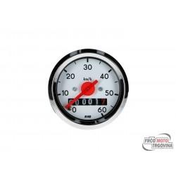 Speedometer up to 60km/h round shape 48mm