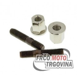 Exhaust stud bolt set Naraku incl. nuts - M6x32mm