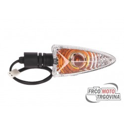 indicator light assy front left / rear right for Aprilia RX/SX 06-, Derbi Senda 18-, Gilera SMT/RCR 18-