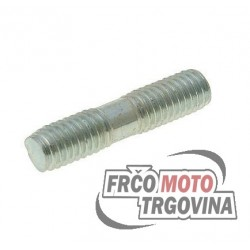 Exhaust stud bolt M6x27mm zinc plated
