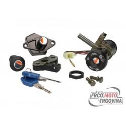 Lock set for Malaguti F15 , F18