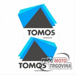 Tank stickers Tomos NTX Blue/Black