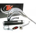 Auspuh Turbo Kit Bufanda RQ krom E-oznaka za Derbi Senda (00-) , Aprilia RX/SX , Gilera RCR/SMT