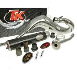 Izpuh Turbo Kit Bufanda Carreras CROME  80 for Aprilia, Derbi, Gilera