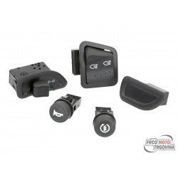 High / low beam, indicator, horn, start switch set 5-part za Piaggio Zip 2000-
