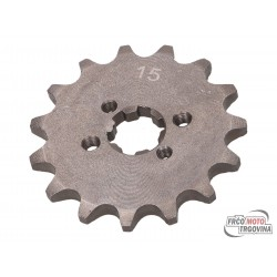 Front sprocket 420 - 15 teeth for Derbi D50B0, EBE, EBS