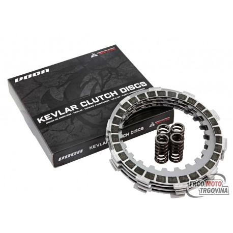 Clutch disc set VOCA Race Kevlar for Minarelli AM, Generic, KSR-Moto, Keeway, Motobi, Ride, 1E40MA, 1E40MB