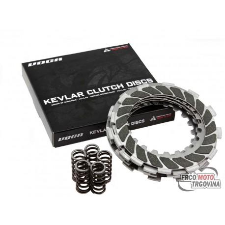 Clutch disc set VOCA Race Kevlar for Derbi EBE, EBS, D50B