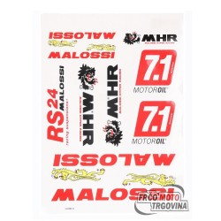 sticker set Malossi DIN-A3