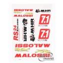sticker set Malossi DIN-A3