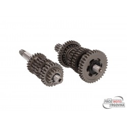 gearbox primary and secondary shaft kit 6-speed TP standard for Minarelli AM6 2nd series
