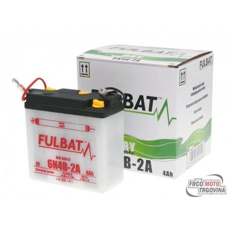 Battery Fulbat 6V 6N4B-2A DRY incl. acid pack