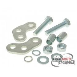 shock absorber adapter / shock absorber height adjustment silver color for Derbi Senda (00-), Aprilia RX, SX, Gilera RCR, SMT