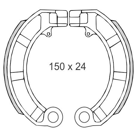 Zavorne čeljusti Piaggio Vespa PX  50cc     RMS