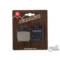 brake pads organic for Yamaha Aerox, MBK Nitro