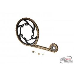 Chain kit Premium 11/53 teeth for Aprilia RX, SX, Derbi Senda R, SM X-Race, Gilera RCR, SMT 06-10