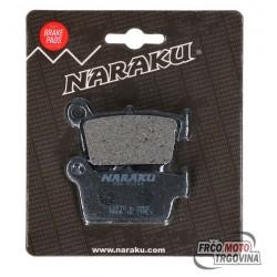 Brake pads Naraku organic for Aprilia MXV, SXV, Fantic, GasGas, Kawasaki KX, Sherco, Suzuki RM-Z, TM, Yamaha YZ, WR