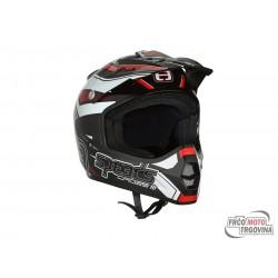 helmet Speeds Cross III glossy black / titanium