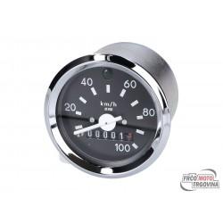 Speedometer  0-100km/h - 60mm CHROME
