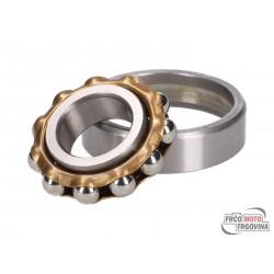 Crankshaft ball bearing L17TVP w/ brass cage 17x40x10mm for Puch