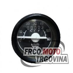Speedometer Teleoptik-Zemun -Tomos 0-60km/h