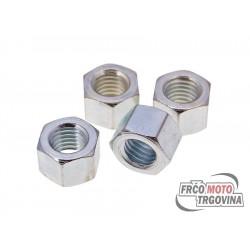 Nut cylinder head M7 Polini set 4 pcs