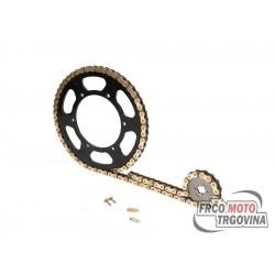Verižni set 11/62 zob Derbi Senda 50 R DRD Racing , Gilera RCR 11- , Aprilia RX , SX
