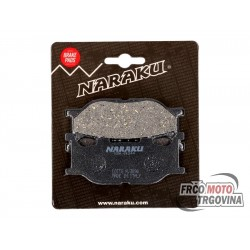 Brake pads Naraku organic for Italjet Jupiter , Yamaha Majesty , MBK Skyliner