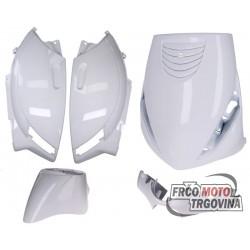 Plastike set sjaj Bijela za Piaggio Zip 2 AC 2000-