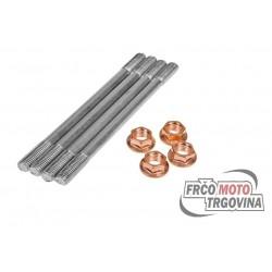 Cylinder studs set - Minarelli Horiz - Aerox , Nitro ,Aprilia Scarabeo 50