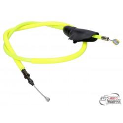 Clutch cable Doppler PTFE neon yellow for Aprilia RX 50 06-, SX 50, Derbi Senda 06-, Gilera SMT, RCR