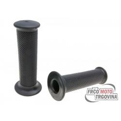 Handlebar rubber grip set Domino 1127 Scooter black 115mm