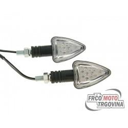 Indicator light set M8 thread LED black Boost II